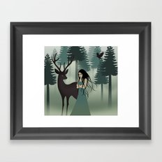 My deer friend Framed Art Print