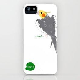 HAPPY COCKATIEL BIRD NORMAL  iPhone Case