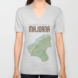 Map of the people's republic of Majorna Unisex V-Neck