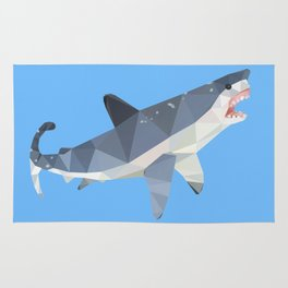 Low Poly Great White Shark Rug