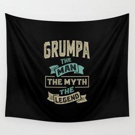 Grumpa The Myth The Legend Wall Tapestry