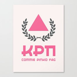 Commie Pinko Fag: Family Crest Canvas Print