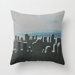 City skyline Throw Pillow