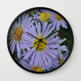 New England Asters Wall Clock