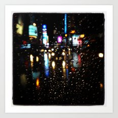 Blurry Times Square  Art Print