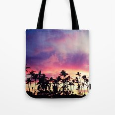 1980's sunset and quote Tote Bag