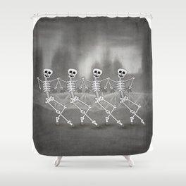 Dancing skeletons I Shower Curtain