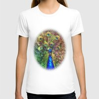 peacock T-shirts featuring peacock by Ancello