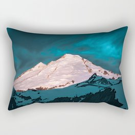 Mt Baker Blue Rectangular Pillow