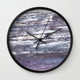 Gray violet Wall Clock