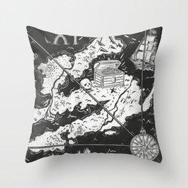 Treasure Map Throw Pillow