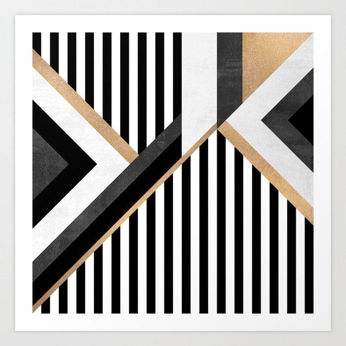 Stripe Combination Art Print