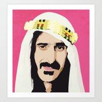 zappa Art Prints featuring ZAPPA! by f_e_l_i_x_x