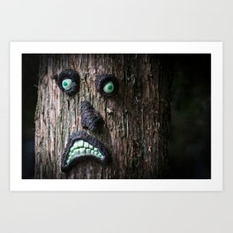 Tree Face Art Print