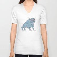 ghostbusters V-neck T-shirts featuring zuul - ghostbusters by Jon Boam