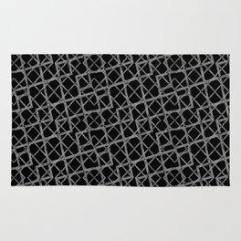 Geometric Grunge Pattern Rug