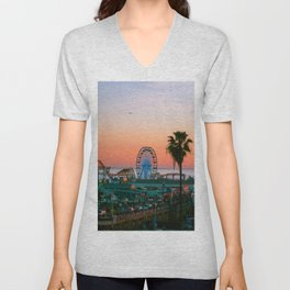 Sunset on the Pier Unisex V-Neck