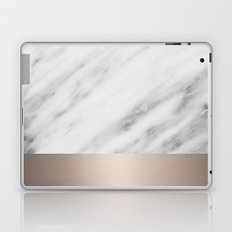 Carrara Italian Marble Holiday White Gold Edition Laptop & iPad Skin