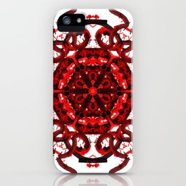 Red Abstract Mandala Star iPhone Case