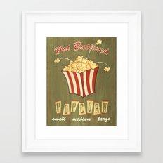 Retro popcorn Framed Art Print