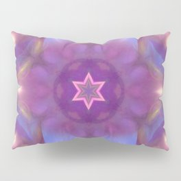 Star and fractal beauty in purple and blue Pillow Sham