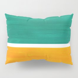 Colorful Bright Minimalist Rothko Minimalist Midcentury Art Marine Green Gold Vintage Pop Art Pillow Sham