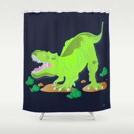 Dino - Bright Shower Curtain