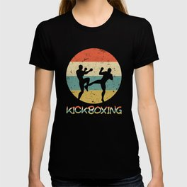 Kickboxing Vintage Gift for Martial Arts Fighters And Kickboxer T-shirt