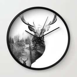 Deer in the woods Wall Clock