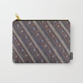 Blue Night Parang Seling Antique Traditional Indonesian Batik Pattern Carry-All Pouch