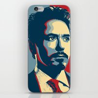 tony stark iPhone & iPod Skins featuring Tony Stark by Cadies Graphic