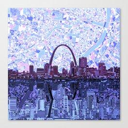 st louis city skyline Canvas Print