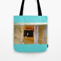 window Tote Bags featuring WINDOW by  ECOLARTE
