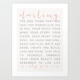 Darling... Art Print