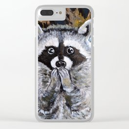 Mischief the Raccoon Clear iPhone Case