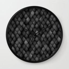 Black Dragon Scales Wall Clock