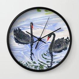 Black Swans - Soulmate Wall Clock