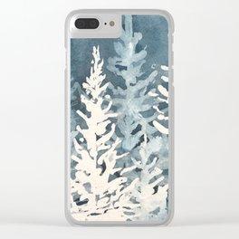 Cobalt Forest, Woodland Blues, Ocean Floor Clear iPhone Case