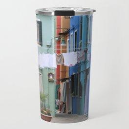 Colors of Burano Italy Travel Mug