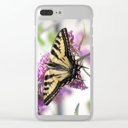 Western Tiger Swallowtail on the Neighbor's Butterfly Bush Clear iPhone Case