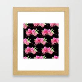 A FLORAL LOVE  (BLK) Framed Art Print