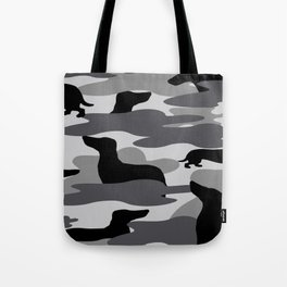 Grey Camo Weiner Dogg Tote Bag