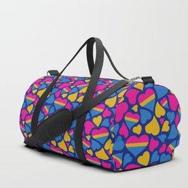 Pan Pride Hearts Pattern Duffle Bag