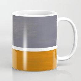 Grey Yellow Ochre Rothko Minimalist Mid Century Abstract Color Field Squares Coffee Mug