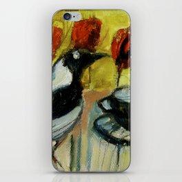 """Crow & Poppies"" by Lindsay R. Wiggins iPhone Skin"