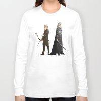 thranduil Long Sleeve T-shirts featuring Legolas & Thranduil by rdjpwns