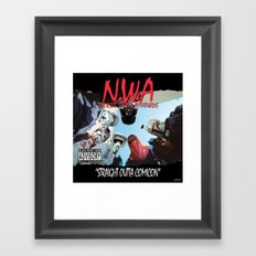 N.W.A (Nerds With Attitude) Straight Outta Comicon Framed Art Print