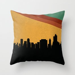 Tulsa Skyline Throw Pillow