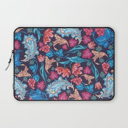 Elegant Asian Floral Pattern of Health and Wealth Laptop Sleeve