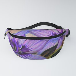 Vintage Painted Lavender Lily Fanny Pack